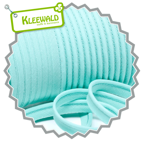 Paspelband 10 mm uni - aquamarin hell