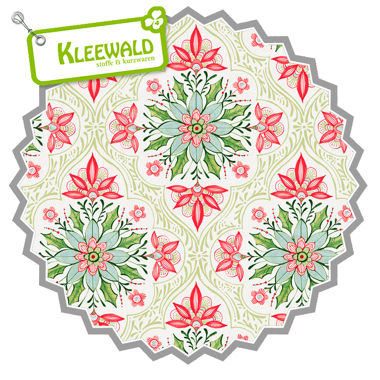 I LOVE CHRISTMAS // Holiday Medaillion White // by blend fabrics