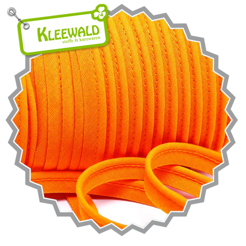 Paspelband 10 mm uni / orange