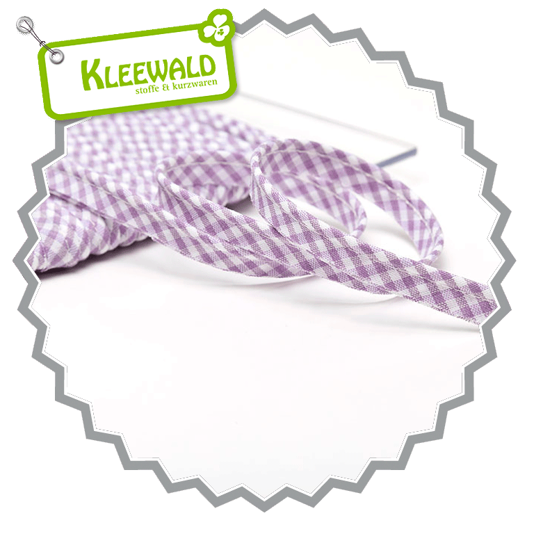 Paspelband Vichy 10 mm - lavendel