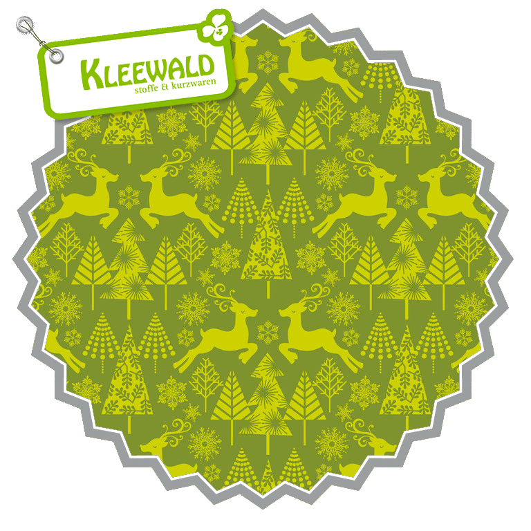 HIP HOLIDAY // Reindeer Stroll Green // by blend fabrics