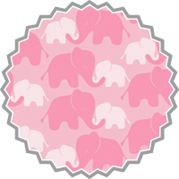 PINK ELEPHANTS • by CAMELOT FABRICS