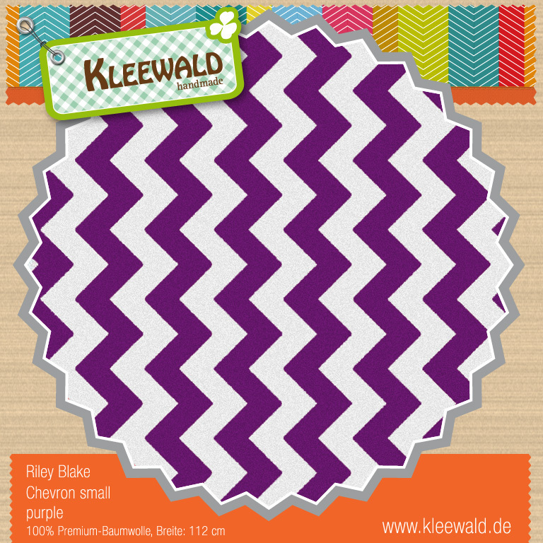 Purple Small Chevron - Riley Blake