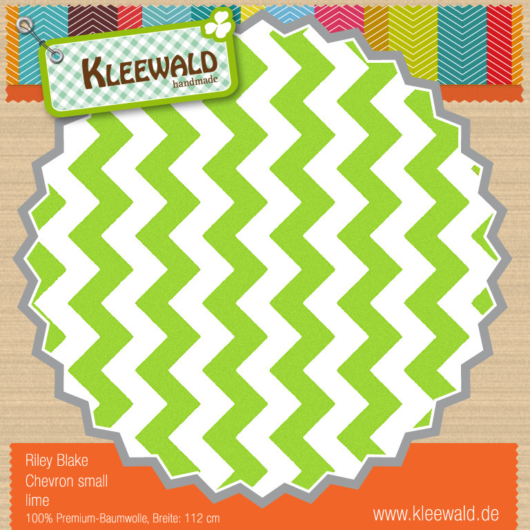 Lime Small Chevron - Riley Blake
