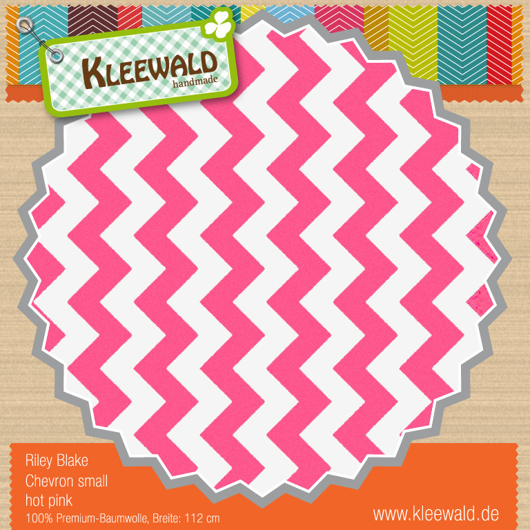 Hot Pink Small Chevron - Riley Blake