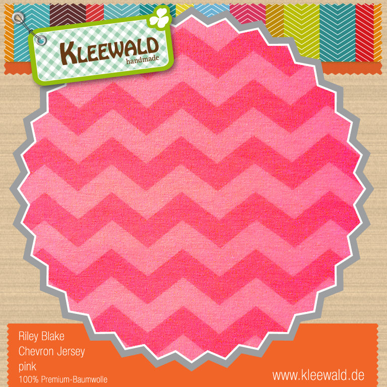 Jersey pink Small Chevron - Riley Blake