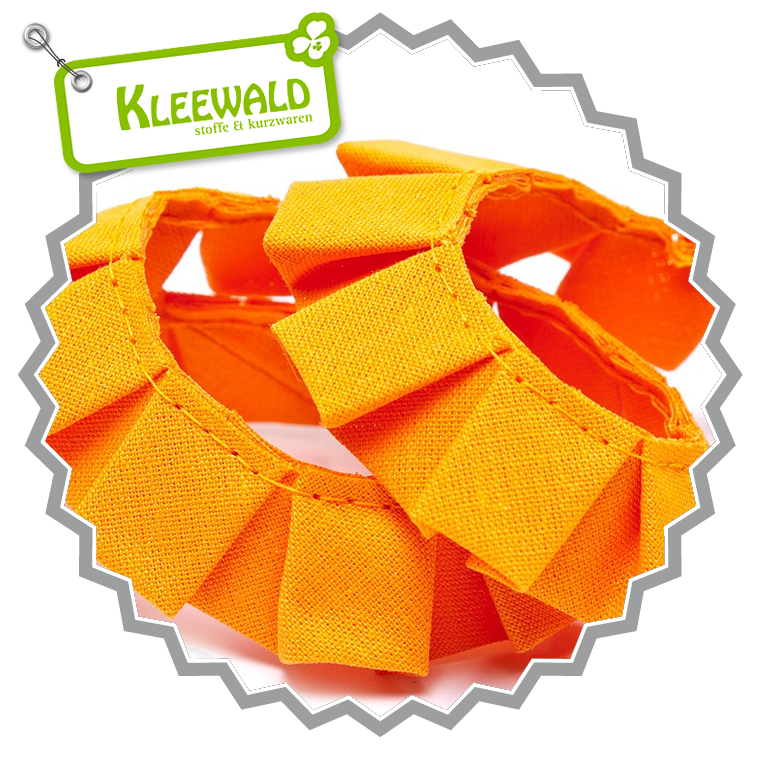 Faltenband orange in 20 mm Breite
