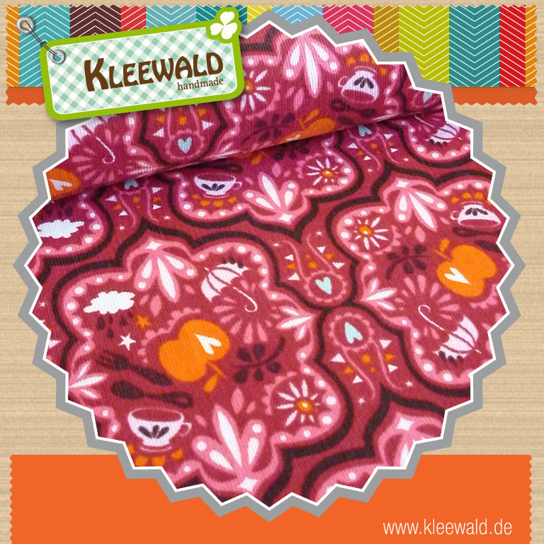 Funny Rain Cord ruby-orange - von Hamburger Liebe