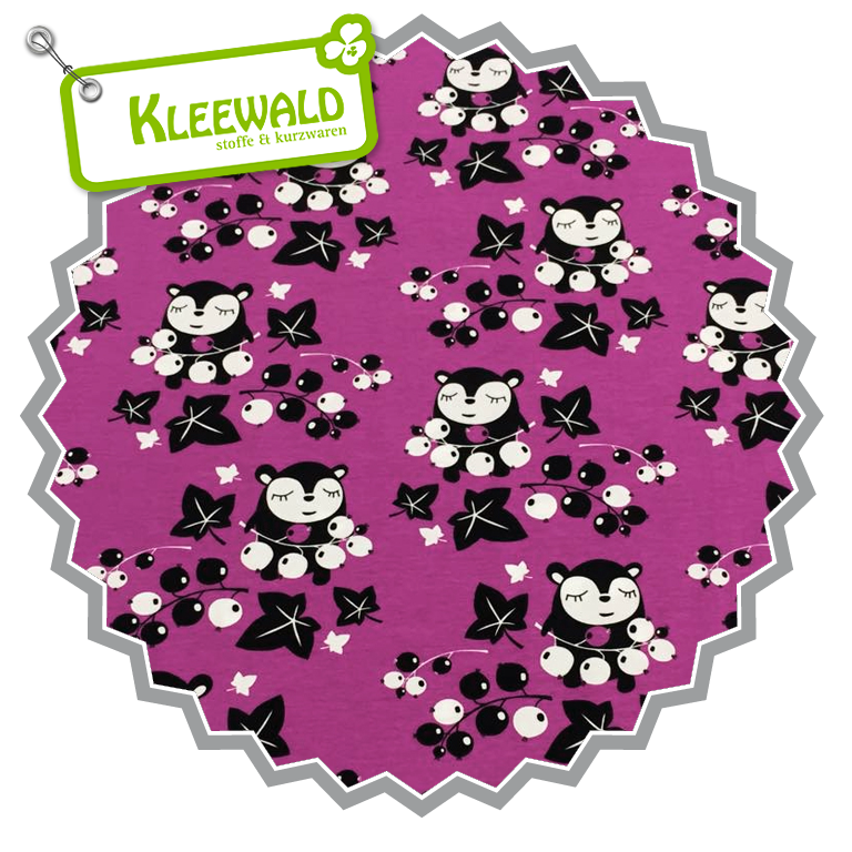 Myyrys Currants purple |  Bio-Baumwolljersey von Paapii Design