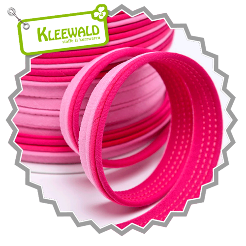 Dreifarbiges Paspelband 14 mm - pink