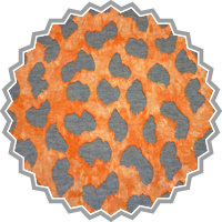 FLOWER BURN OUT ORANGE-GRAU - Baumwoll-Polyesterjersey
