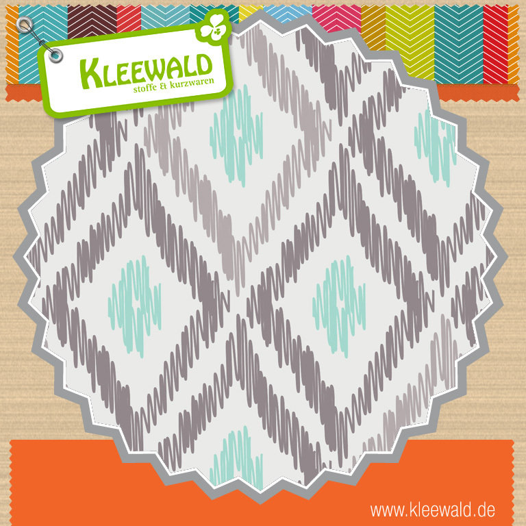 Ikat in Zinc / Elixier - by Camelot Fabrics