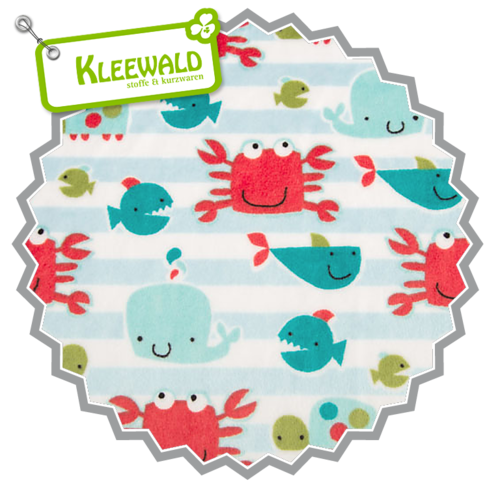 Kids Go Fish Snow | Cuddle Minky Shannon Fabrics