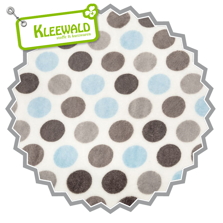 MOD DOT BABABLUE SILVER • CUDDLE MINKY by SHANNON FABRICS