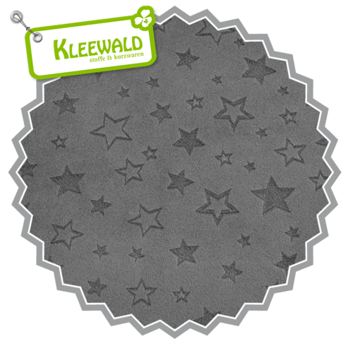 Embossed Star Charcoal | Cuddle Minky Shannon Fabrics