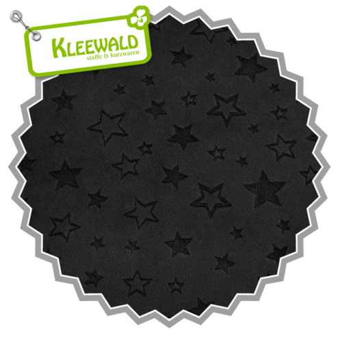 Embossed Star Black | Cuddle Minky Shannon Fabrics