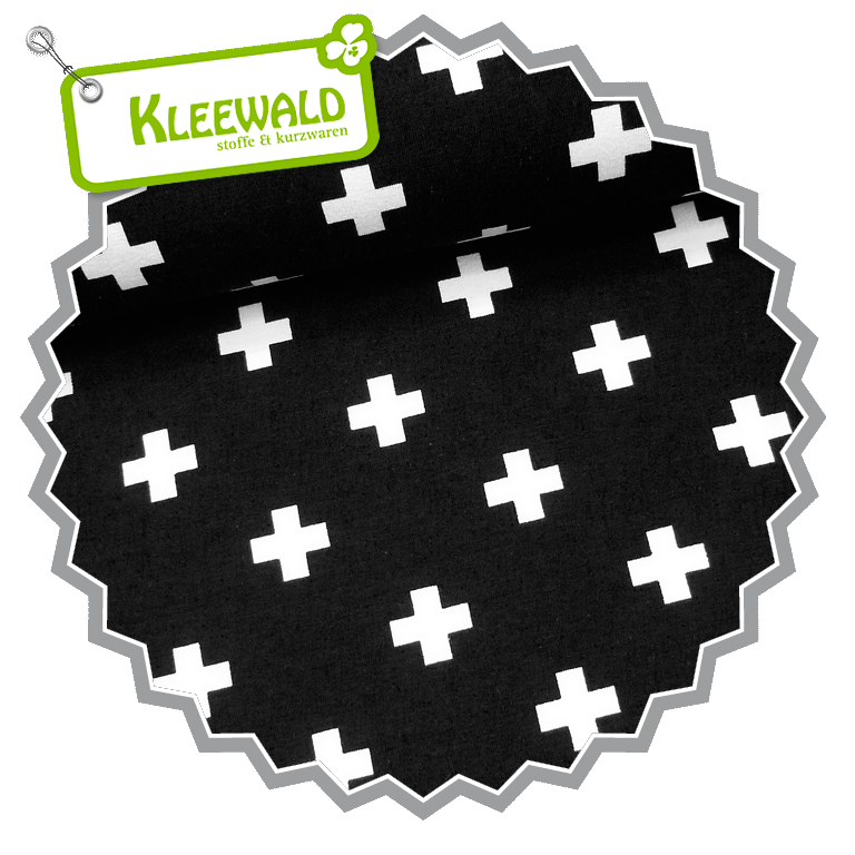 BLACK&WHITE / PLUS BLACK / Baumwolljersey / ÖkoTex Klasse 2