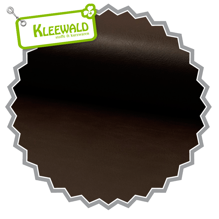 IMITATION LEATHER SMOOTH DARK BROWN