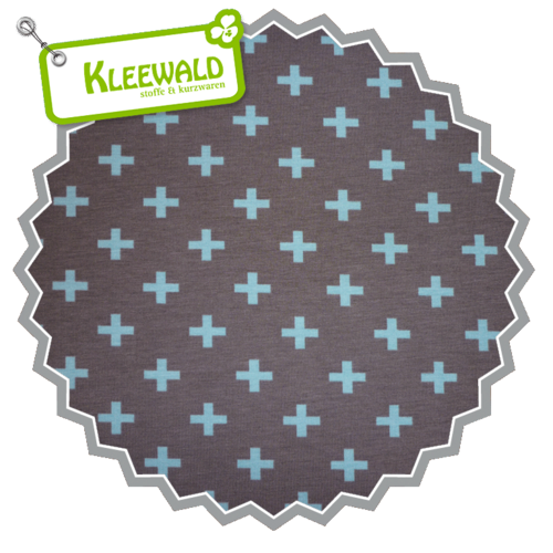 STENZO BIO / PLUS SMALL / taupe-light blue / Bio-Baumwolljersey