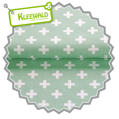STENZO BIO / PLUS SMALL / mint-white / Bio-Baumwolljersey