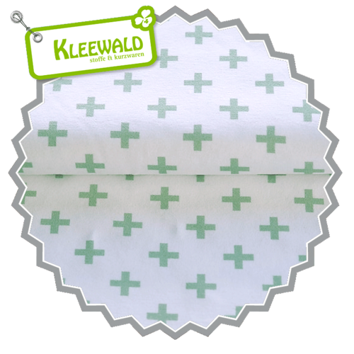 STENZO BIO / PLUS SMALL / white-mint / Bio-Baumwolljersey