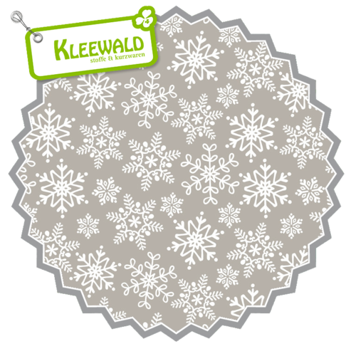 EVEN A MOUSE // Let it Snow Light Grey // by blend fabrics