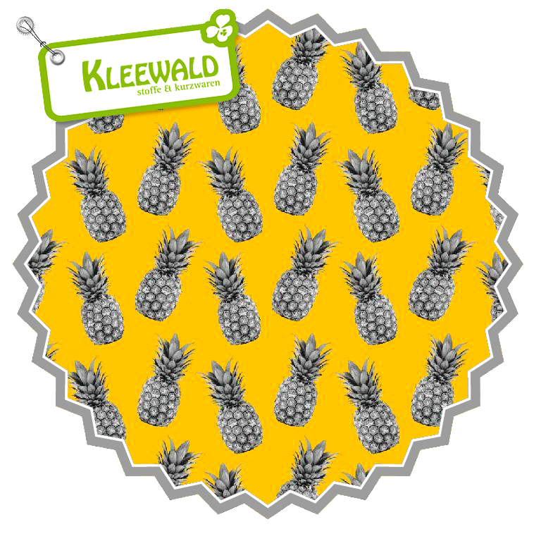 Pineapple Proof // yellow // Baumwolle bedruckt