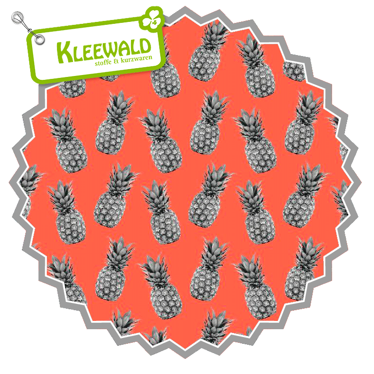 Pineapple Proof // orange // Baumwolle bedruckt
