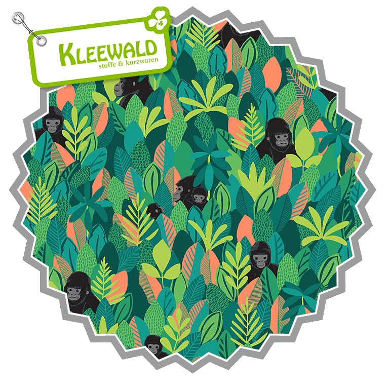 BWINDI FOREST // Mountain Gorilla Green // by blend fabrics