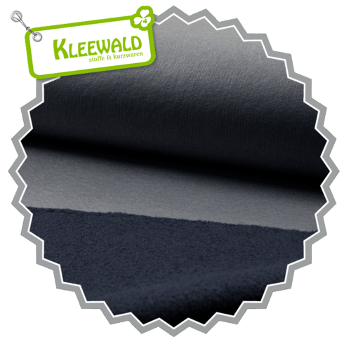 COATED SWEAT / navy / beschichteter Sweat aus 100% Baumwolle