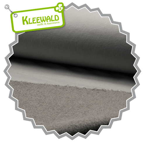 COATED SWEAT / taupe / beschichteter Sweat aus 100% Baumwolle