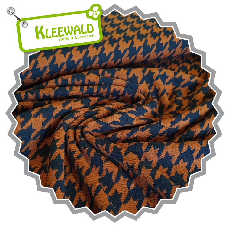 ALBSTOFFE PATTERN LOVE / HOUNDSTOOTH MINI / bruciato-blue navy