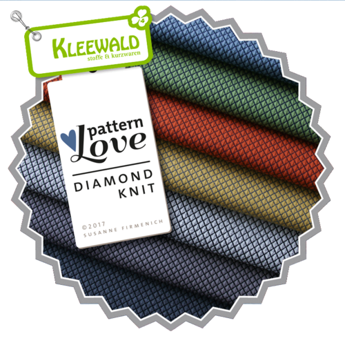 ALBSTOFFE DIAMOND KNIT / carbon-schwarz • Pattern Love kbA