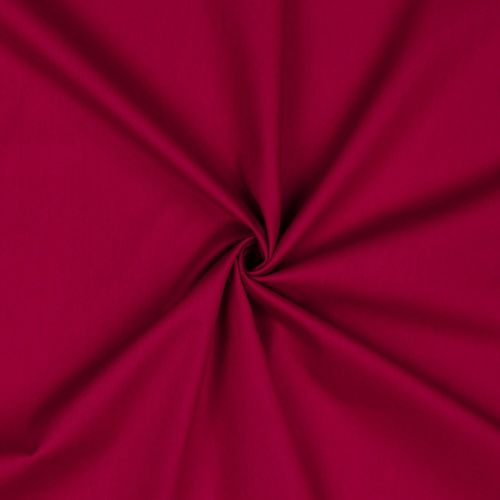 POPLIN UNI CERISE • 100% COTTON
