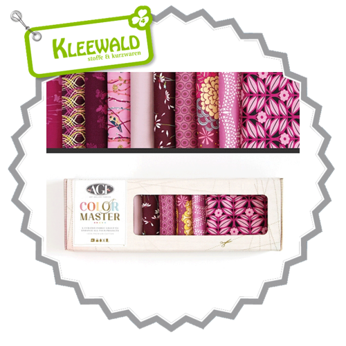 AGF COLOR MASTER No.1 • Vibrant Violet Edition • Fat Quarter Paket