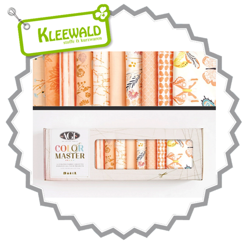 AGF COLOR MASTER No.4 • Quite Peachy Edition • Fat Quarter Paket