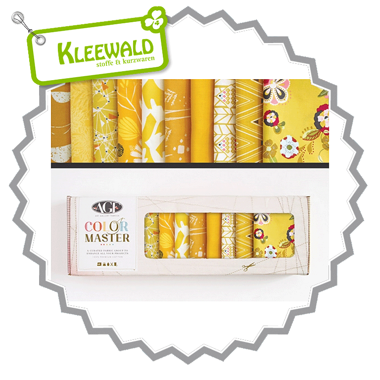 AGF COLOR MASTER No.5 • Gold Leaf Edition • Fat Quarter Paket