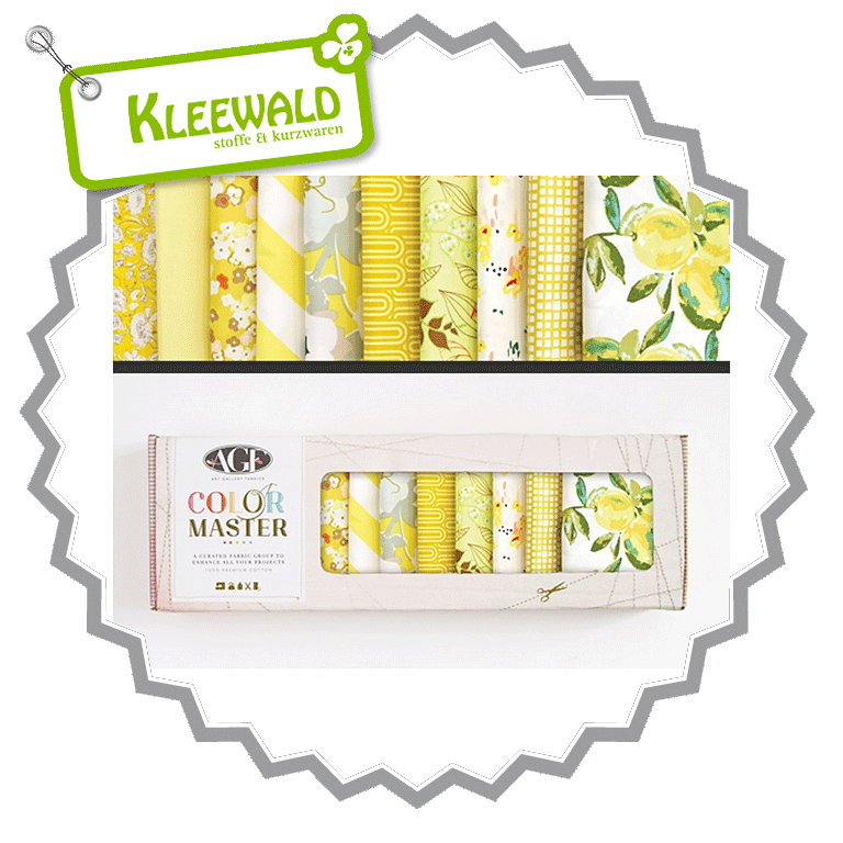 AGF COLOR MASTER No.6 • Lemon Green Edition • Fat Quarter Paket