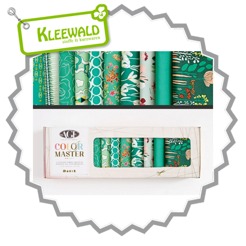 AGF COLOR MASTER No.7 • Emerald Stone Edition • Fat Quarter Paket