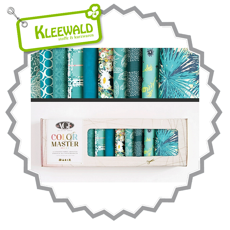 AGF COLOR MASTER No.8 • Teal Thoughts Edition • Fat Quarter Paket