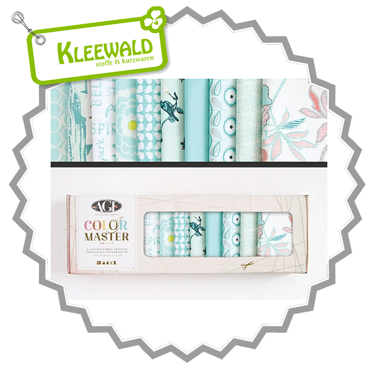 AGF COLOR MASTER No.9 • Fresh Water Edition • Fat Quarter Paket
