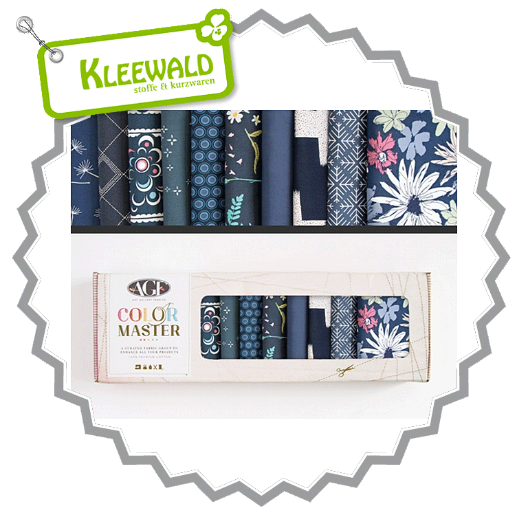 AGF COLOR MASTER No.10 • Midnight Ocean Edition • Fat Quarter Paket
