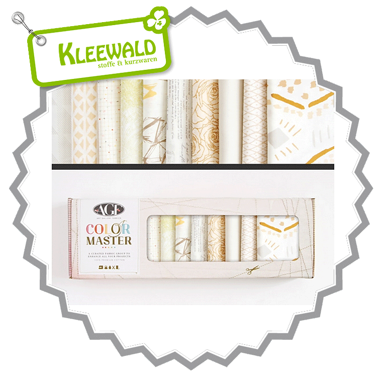 AGF COLOR MASTER No.12 • Winter Wheat Edition • Fat Quarter Paket