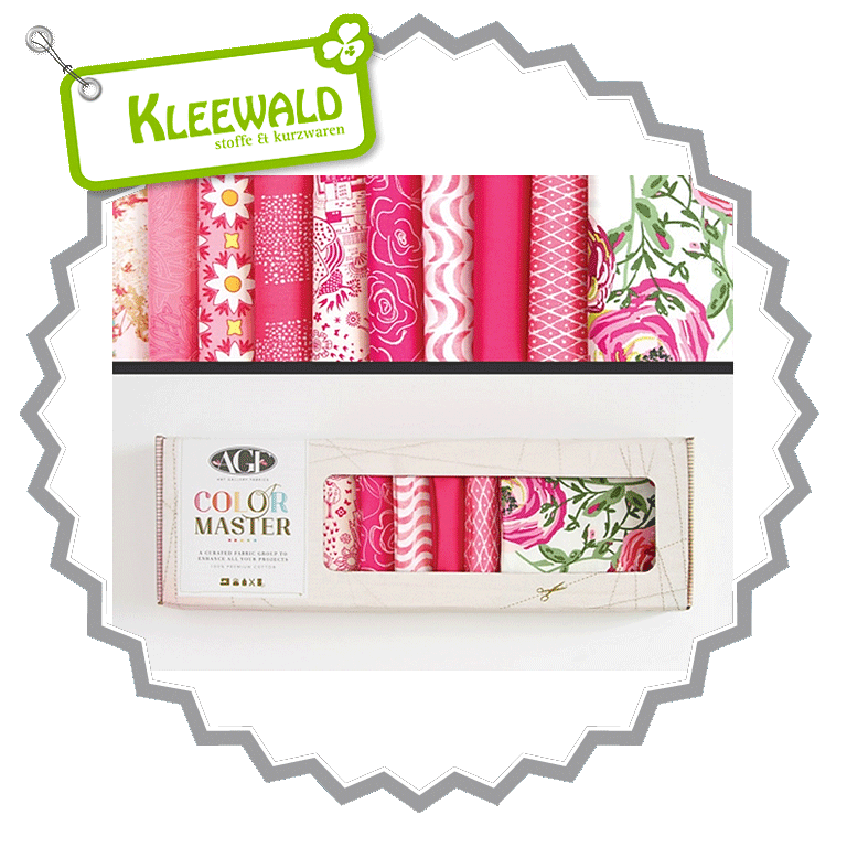 AGF COLOR MASTER No.2 • Life Is Pink Edition • Fat Quarter Paket