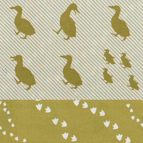 KOKKA TOY FABRICS • DUCK OLIVE • CANVAS DOUBLE-SIDED PRINT