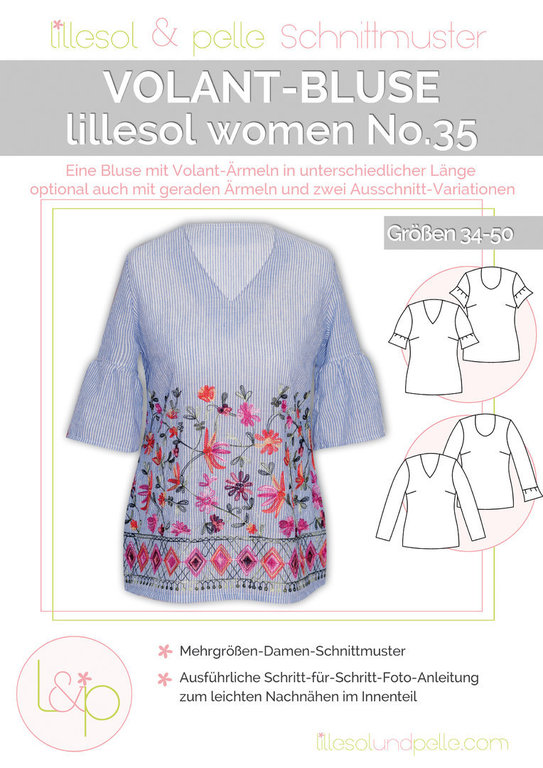 No.35 VOLANT BLUSE • PAPIERSCHNITTMUSTER