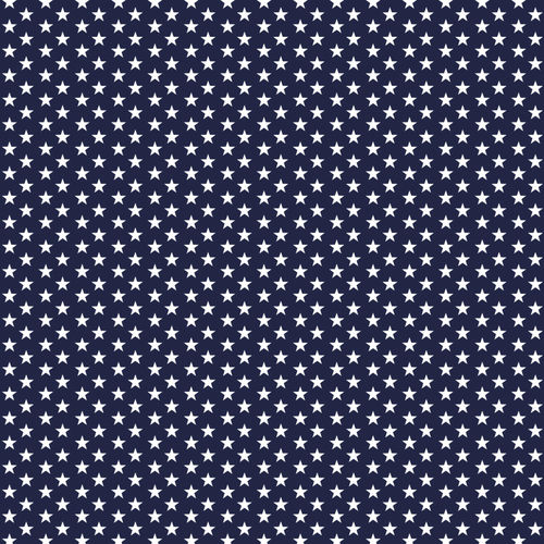 POPLIN MINI STARS 4 MM / NAVY