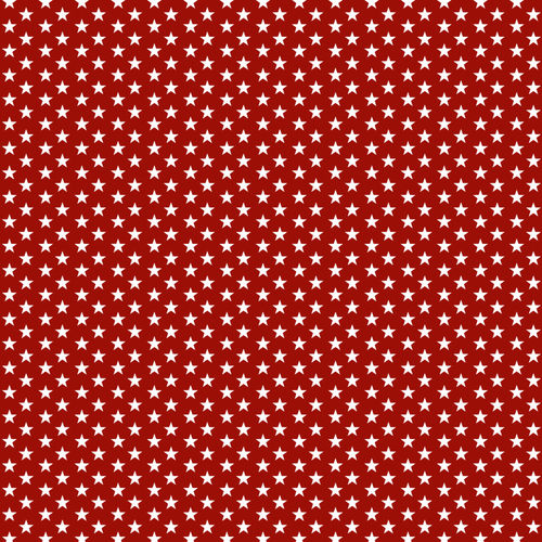 POPLIN MINI STARS 4 MM / RED