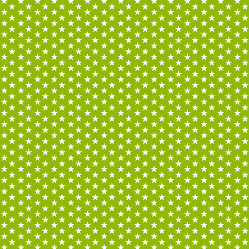 POPLIN MINI STARS 4 MM / LIME