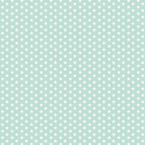 POPLIN MINI STARS 4 MM / LIGHT MINT